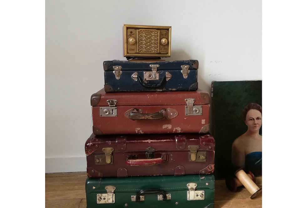 Lot de 4 valises vintage