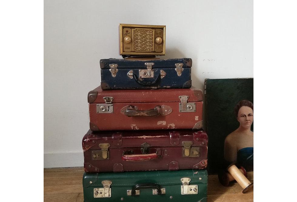 Lot de 4 valises vintage