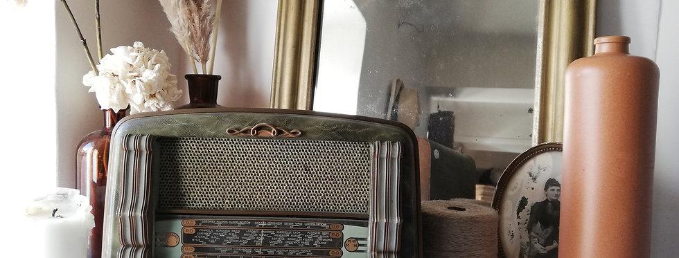 Très beau Poste Radio Français Tsf en bois couleur verte  Very nice French radio