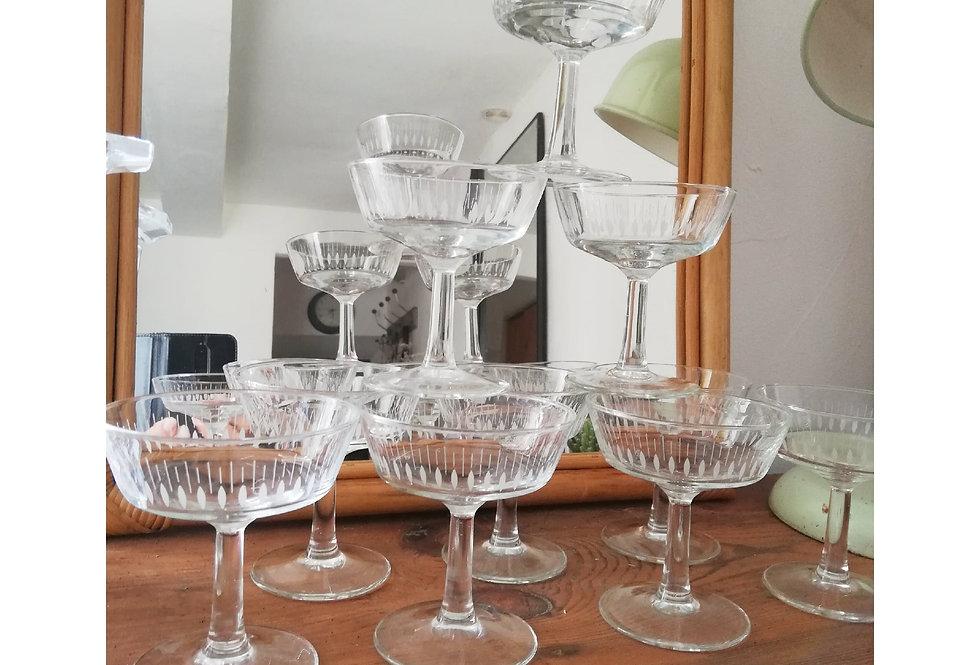 10 coupes à champagne