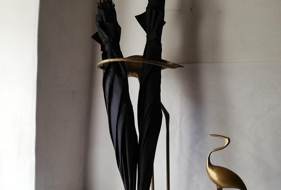 porte parapluies vintage héron en laiton
