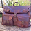 Thumbnail: Sac medecin vintage de voyage en cuir...French vintage leather bag