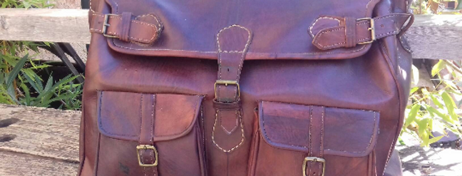 Sac medecin vintage de voyage en cuir...French vintage leather bag