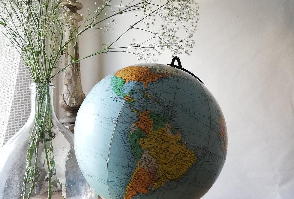 Grande mappemonde globe terrestre Girard Barrere