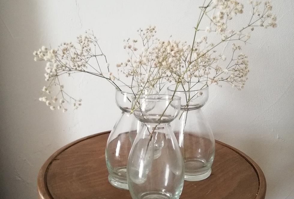 5 vases à bulbes vintage