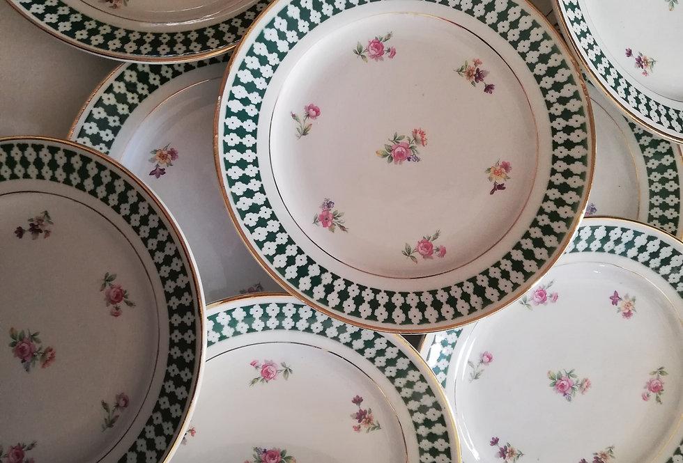 Assiettes porcelaine Amandinoise