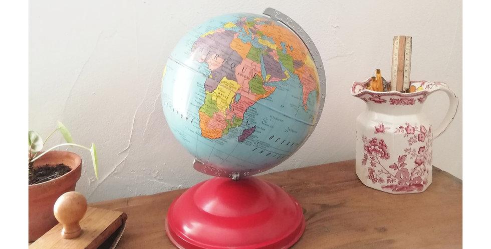 mappemonde en tole 1950 globe terrestre