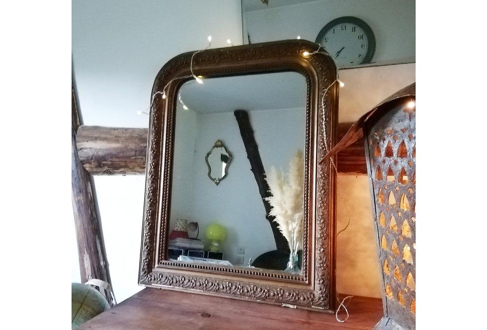 Miroir Louis Philippe dorée