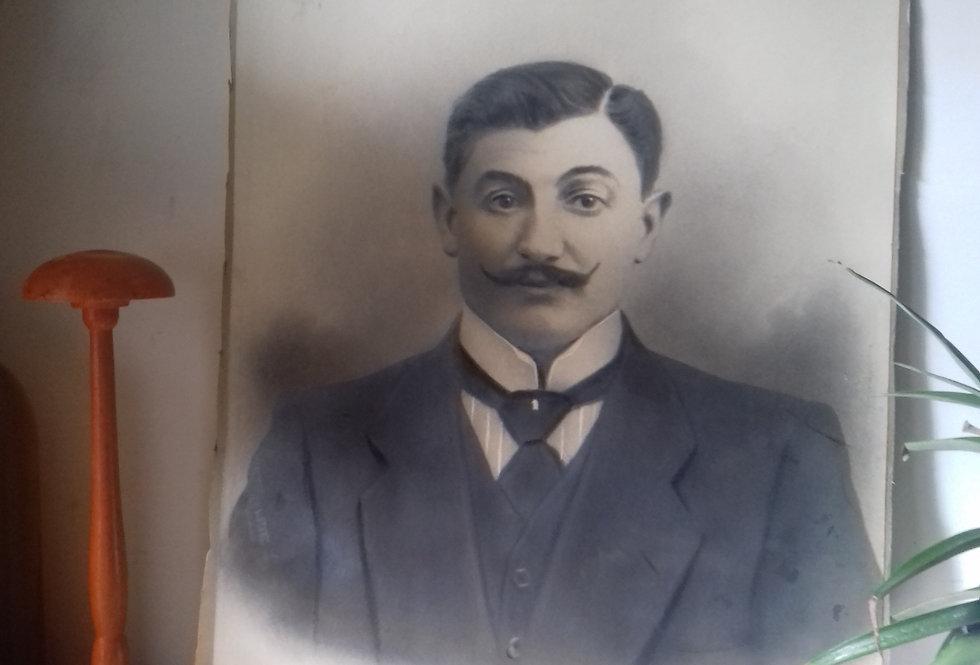 photo homme moustachu 1900 moustached man photo 1900