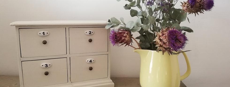 Petit meuble ancien à 4 tiroirs