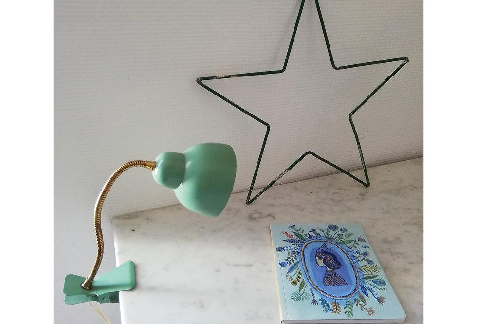 lampe a pince vintage vert mint