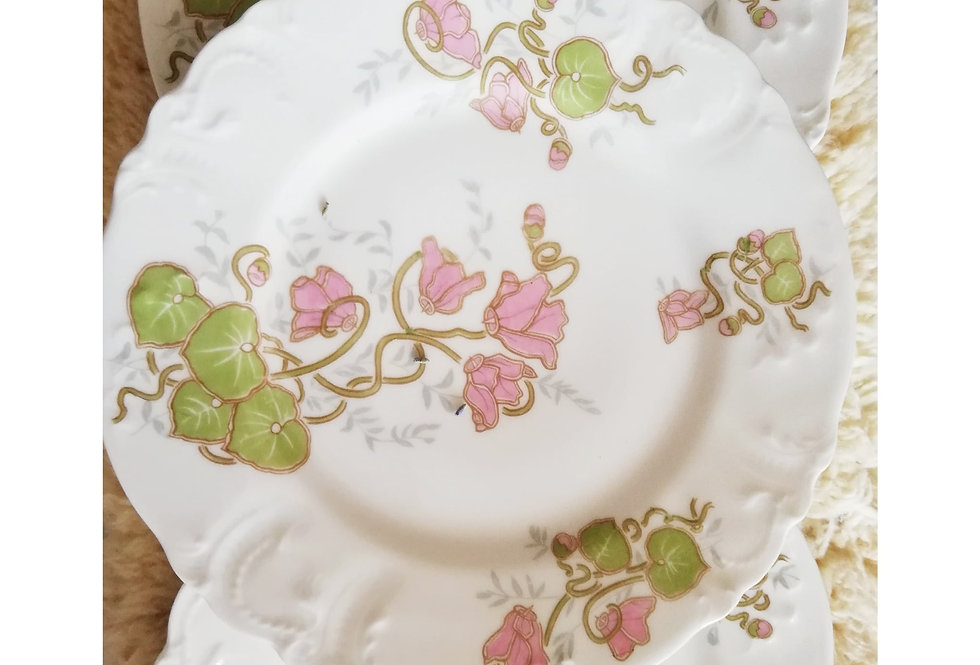 assiettes Limoges Baboin freres cyclamen