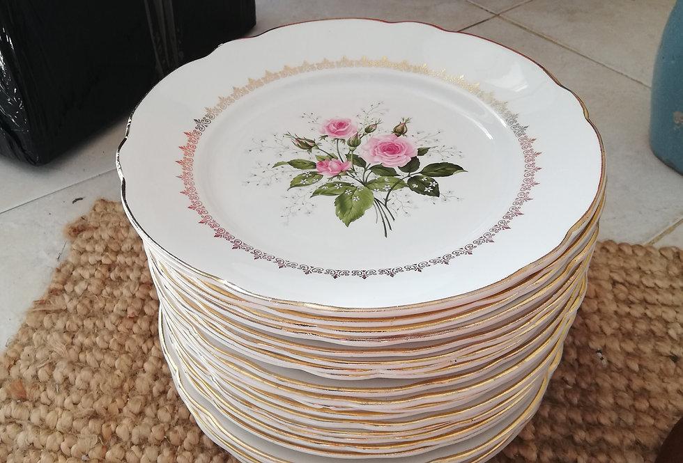 23 assiettes plates Luneville