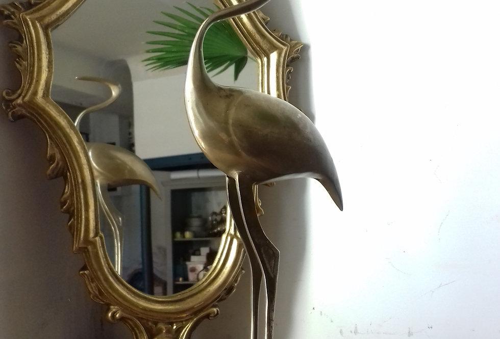 oiseau héron laiton heron bird brass