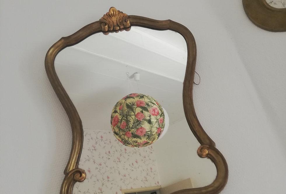 grand miroir bois doré 1950