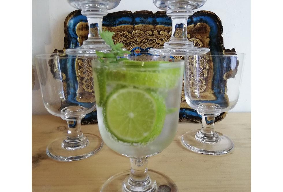7 superbes verres en cristal