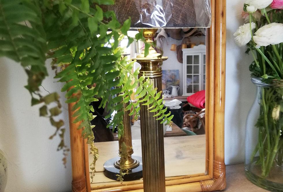 lampe élégante XXe laiton et marbre