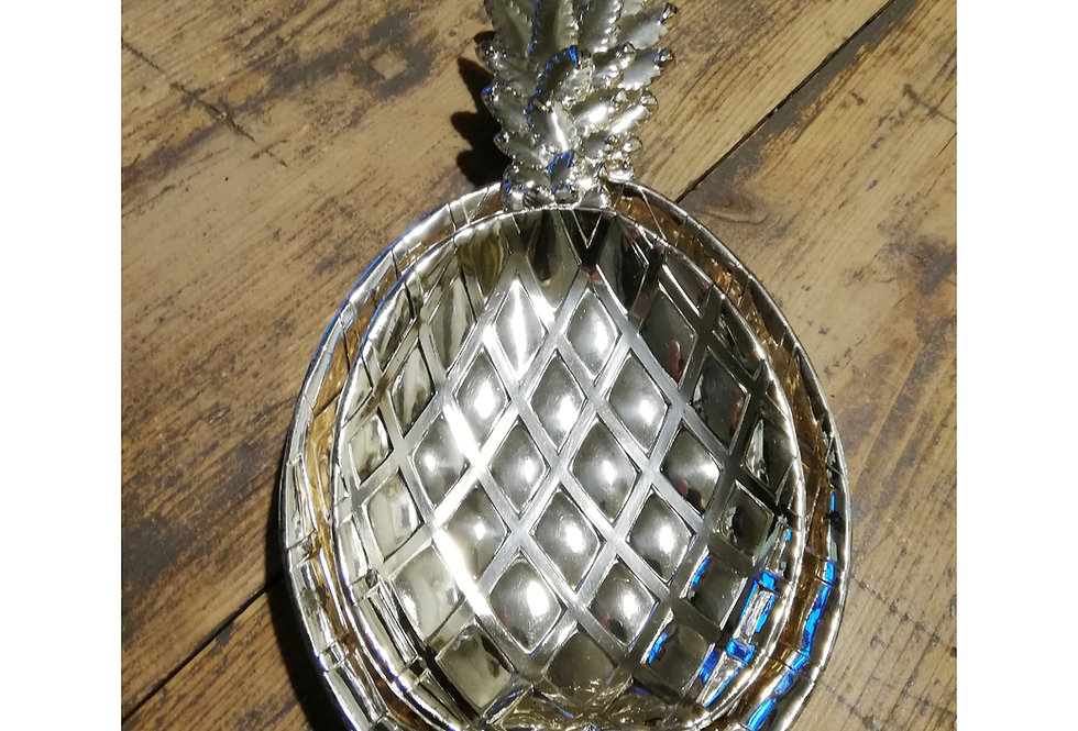 raviers vide poche vintage ananas métal argenté
