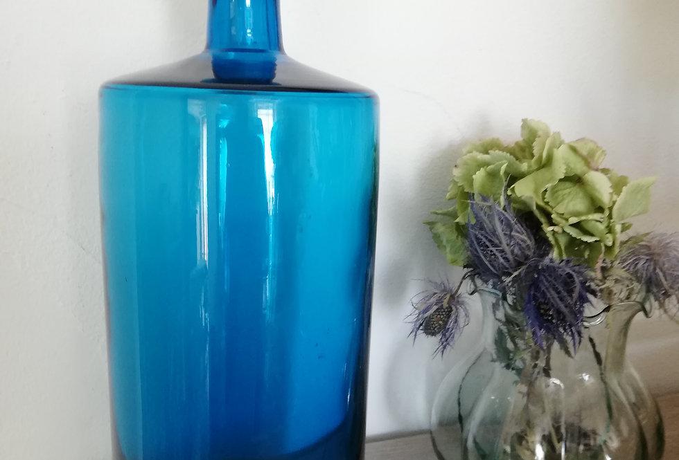 flacon apothicaire vintage bleu turquoise