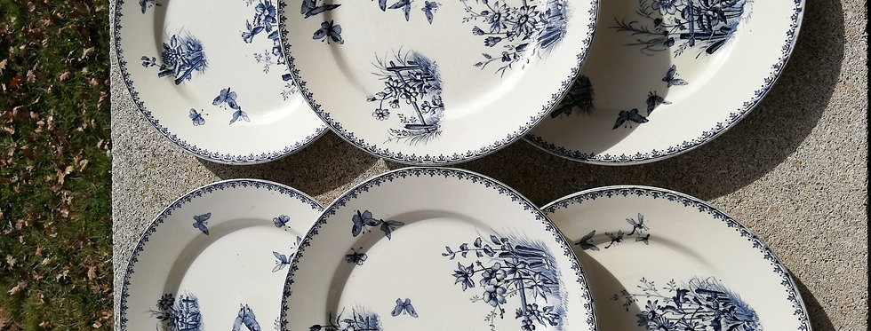 Assiette vintage modèle tsarine de Sarreguemines
