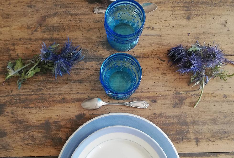 6 verres  bleu