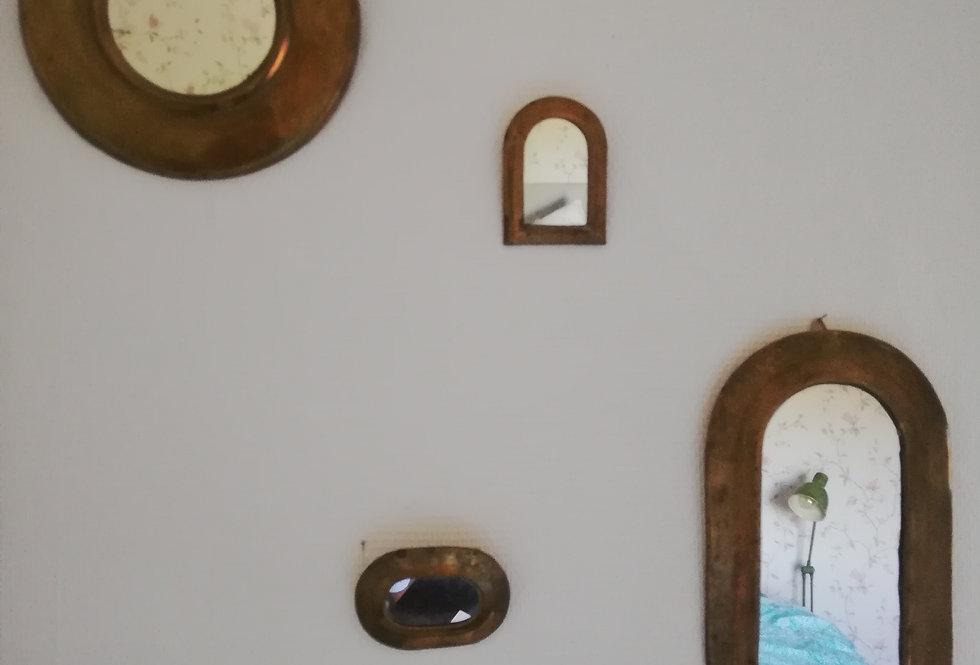 4 miroirs en laiton