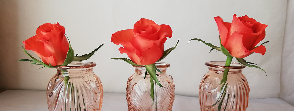 3 petits vases art déco