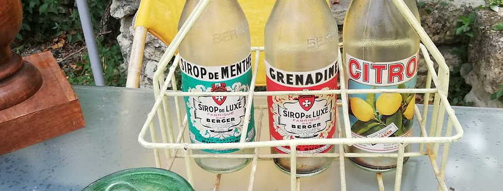 Porte bouteilles vintage