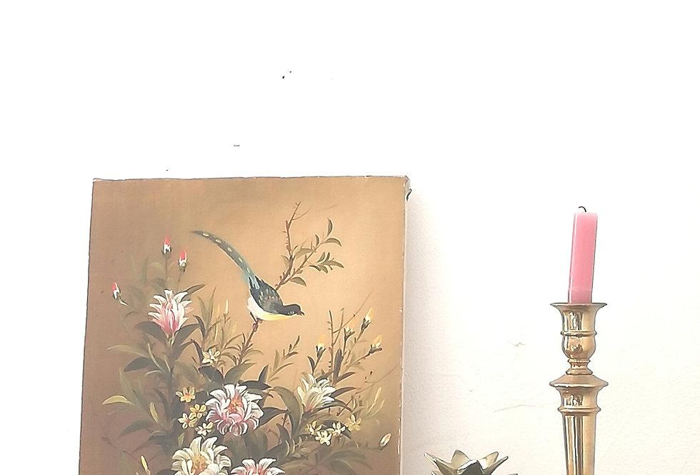 peinture kongj oiseaux sur fleurs