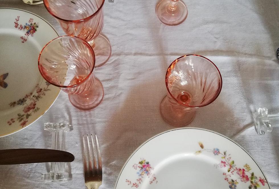 6 verres rose (petit modèle)