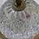 Thumbnail: Plafonnier vintage en verre et laiton