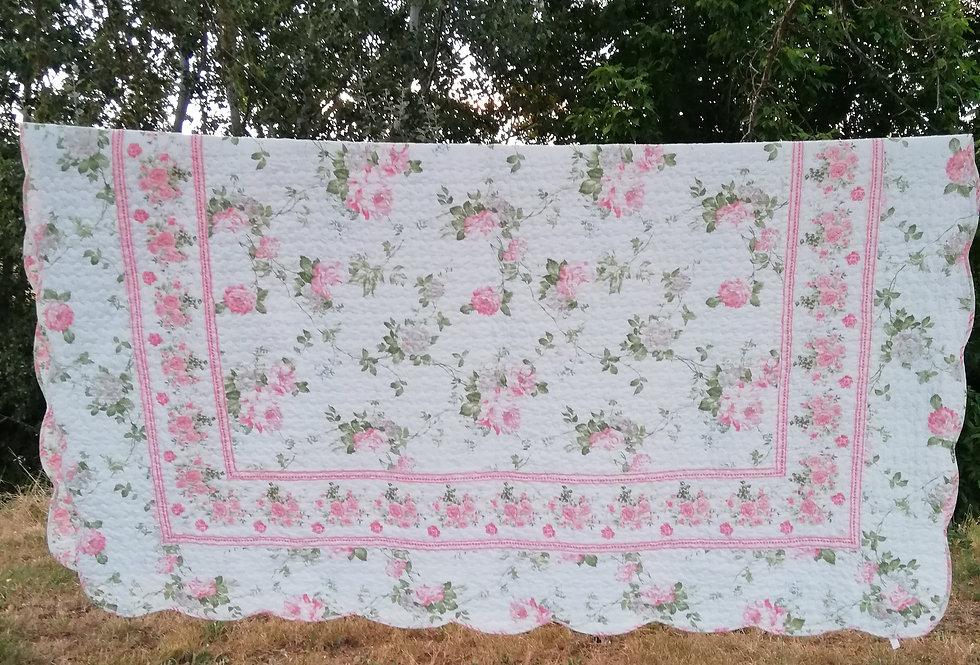 boutis rose et blanc