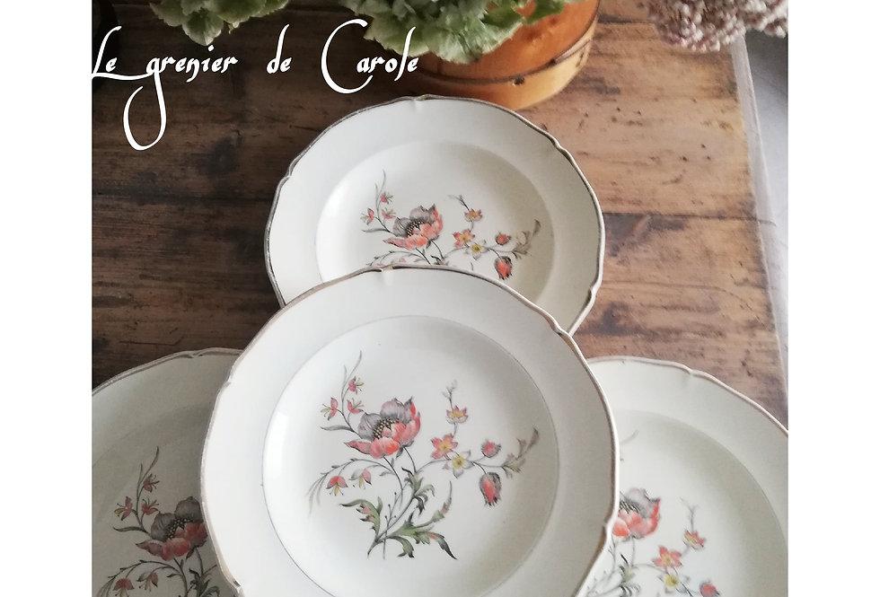 assiettes creuses vintage porcelaine