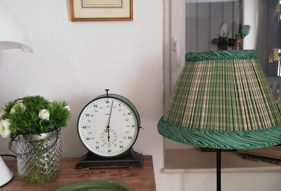 abat jour vintage plissé vert vichy