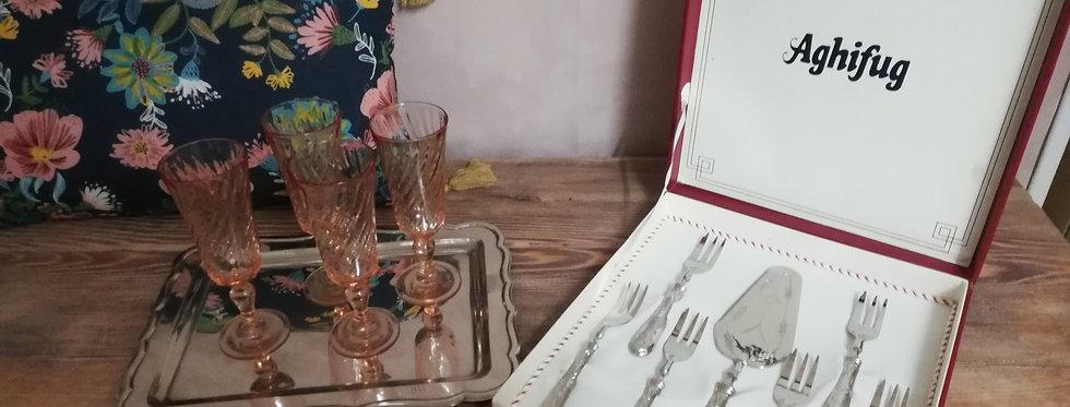 4 Superbes flûtes à champagne *port compris en colissimo