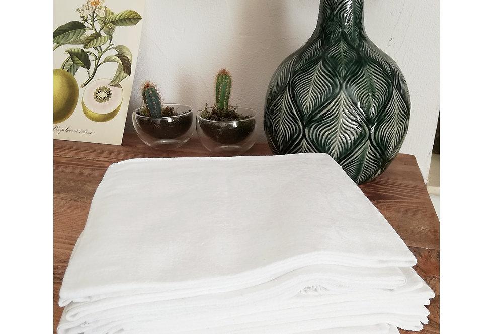 8 grandes serviettes de tables blanches XIXe siècle