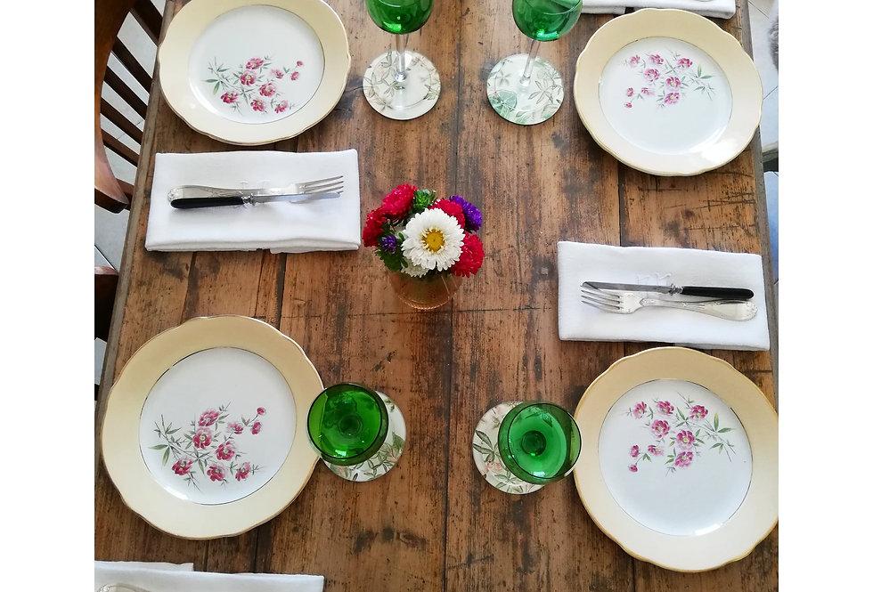 assiettes vintage Luneville Mireille