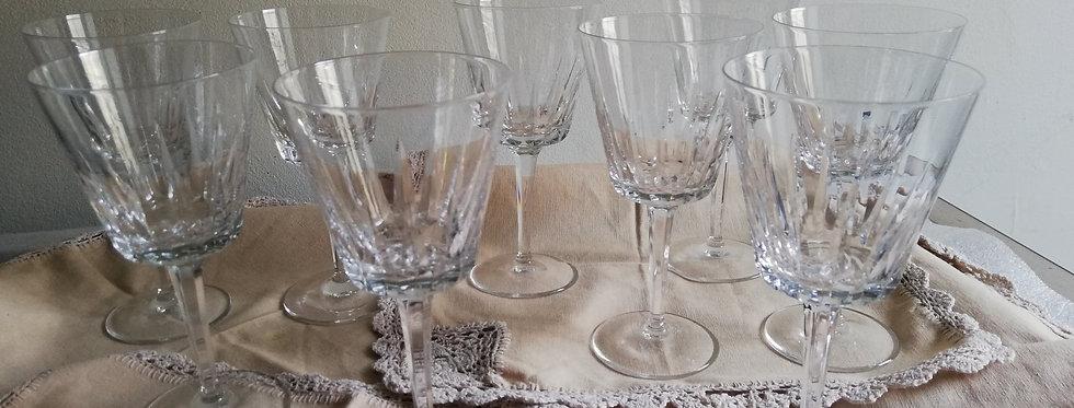 9 verres en cristal