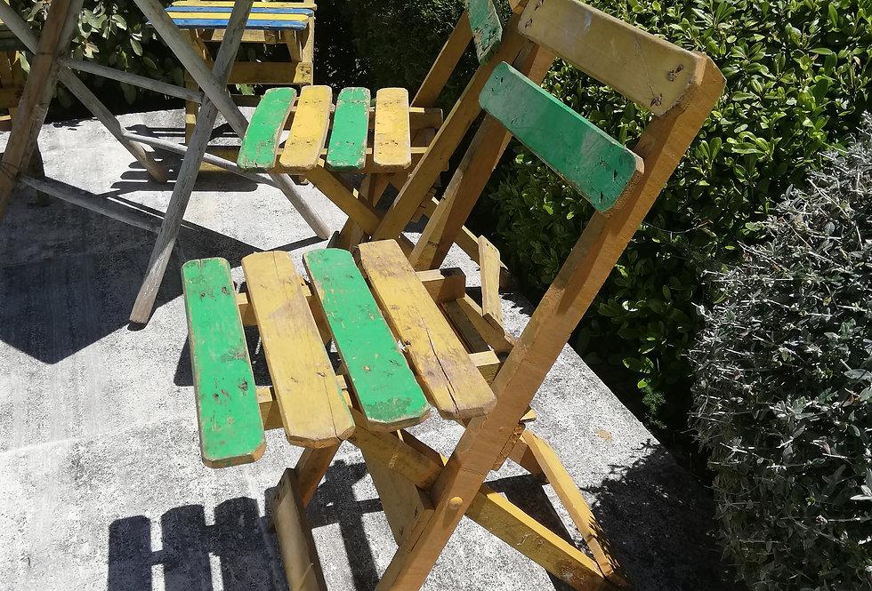 4 chaises vintage *envoi possible en colissimo