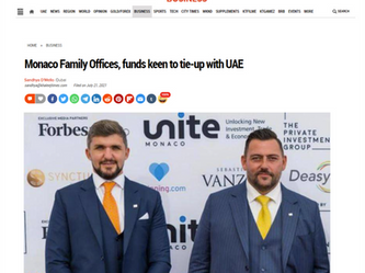 Monaco Family Offices, funds keen to tie-up with UAE
