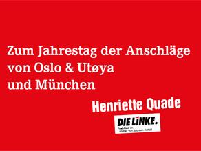 Zum Jahrestag der Anschläge von Oslo & Utøya und München