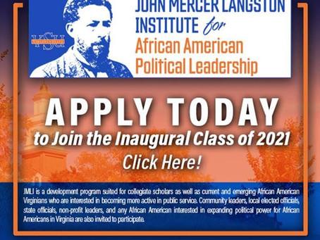 Become a Member of the John Langston Mercer Institute's (JMLI) Inaugural Class