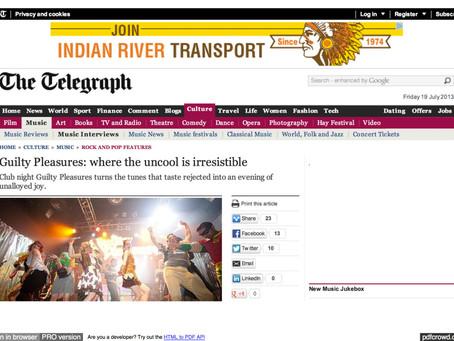 Guilty Pleasures: The Telegraph