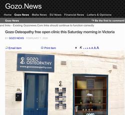 Gozo osteopath