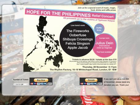 Concert for the Philippines…Thursday 28th November: @RhythmFactoryUK