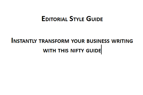 Basic Editorial Style Guide by Writefullyso
