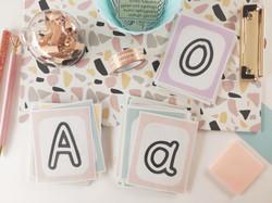 Κάρτες αλφαβητα και αριθμών 0 - 9