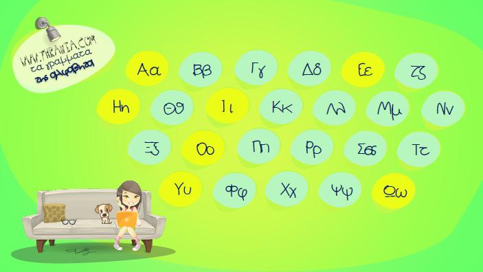 Τα γράμματα της αλφαβητα