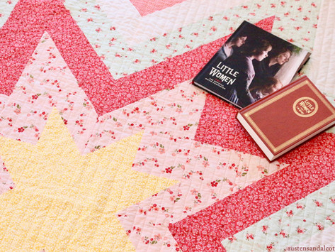 A Quilt For Orchard House - 'Expanding Stars' from Emily Dennis of Quilty Love