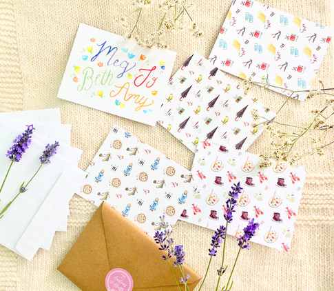 Little Women Motif Notecard Set of 5